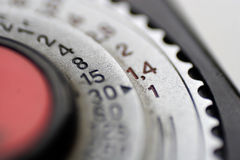Dial on light meter Stock Image