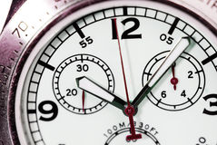 Dial mechanical clock close Royalty Free Stock Photos