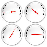 Dial, meter templates with red need and units set at 4 stages, l Royalty Free Stock Photography