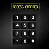 Dial numérico negro de la seguridad Imágenes de archivo libres de regalías