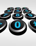Dial numbers Royalty Free Stock Photos