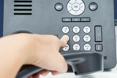Dial the numeric keypad of IP phone Royalty Free Stock Photos