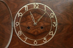 The dial of the old clock. Close up stock photos