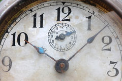 The dial of the old clock close up Stock Image