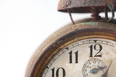 The dial of the old clock close up Royalty Free Stock Photo