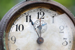 The dial of the old clock close up Stock Images