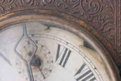 The dial of the old clock close up Stock Photo