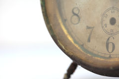 The dial of the old clock close up Royalty Free Stock Image
