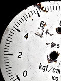 Dial of the old gauge.  Royalty Free Stock Photos