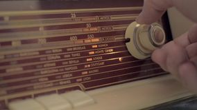 Dial of an old radio receive stock footage