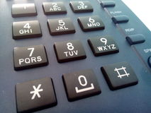 Dial pad of land phone Royalty Free Stock Photography