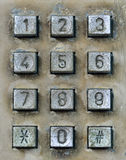 Dial pad of public telephone box Stock Image