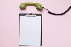 Dial phone and business Stock Photography