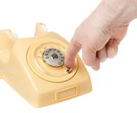 Dial phone number Royalty Free Stock Photos