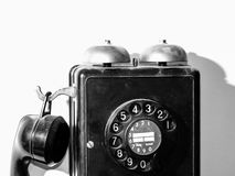 Dial Phone. Shabby Retro Dial Phone black & white Royalty Free Stock Photos