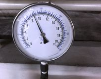 Dial Pressure Gage. With max scale of 300 psi royalty free stock photo