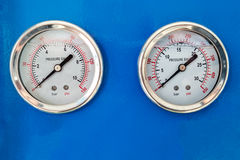 Dial pressure gauge Stock Images
