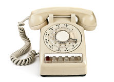 Dial retro phone. Old retro phone, a dial number royalty free stock photos