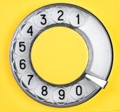 Dial retro phone Royalty Free Stock Image