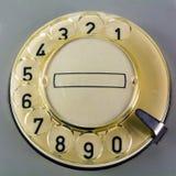 Dial rotatorio en un teléfono del vintage Fotografía de archivo