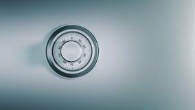 Dial seguro, concepto de la seguridad Imágenes de archivo libres de regalías