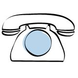 Dial telephone icon vector. Illustration of a dial telephone + vector eps file Royalty Free Stock Photos