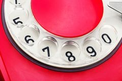 Dial of telephone Royalty Free Stock Images
