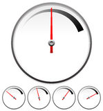Dial Templates For Gauge Concept Set At 5 Stages Royalty Free Stock Photography