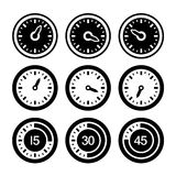 Dial and Timers Icons Set. Vector Stock Photography