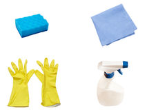 Dial-up for cleaning of home subjects Stock Photos