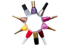 Dial-up of nail polishes Royalty Free Stock Photography
