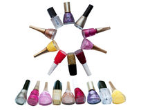 Dial-up of nail polishes Stock Image