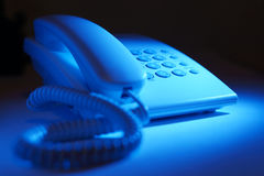 Dial up telephone instrument Stock Photo