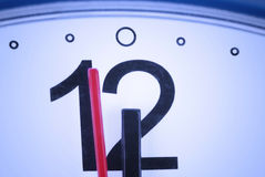 Dial wall clock closeup. Arrows stand for twelve Stock Image