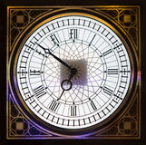 Dial of wall clock with an ornament Royalty Free Stock Photos