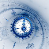 Dial of watch. Time Machine. Mechanism of eternity. Stock Image