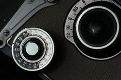 Diales de la cámara de la foto del vintage Foto de archivo