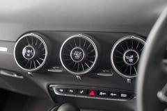 Diales del aircon de Audi TT Imagen de archivo