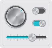 Diales del metal del vector fijados Imágenes de archivo libres de regalías