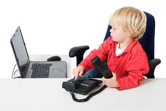 Dialing child Stock Photos