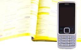 Dialing a company Stock Photo