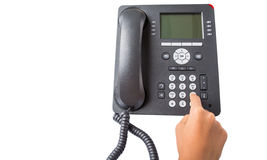Dialing Desktop Telephone I Stock Photography