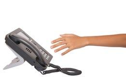 Dialing Desktop Telephone II Royalty Free Stock Images