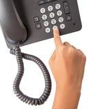 Dialing Desktop Telephone IV Stock Photo