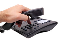 Dialing a number Stock Image