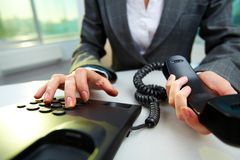 Dialing number Stock Image