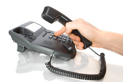Free Dialing On Telephone Royalty Free Stock Photography - 4797237