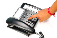 Dialing phone Royalty Free Stock Photos