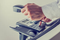 Dialing a phone number Stock Image