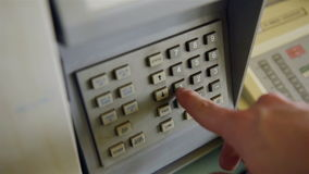 Dialing sequence into a security panel Royalty Free Stock Photo